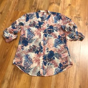 KUT from the Kloth Sheer Button Down